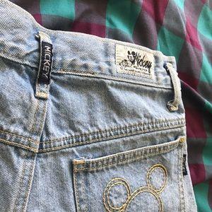 Vintage Walt Disney Mickey high rise shorts